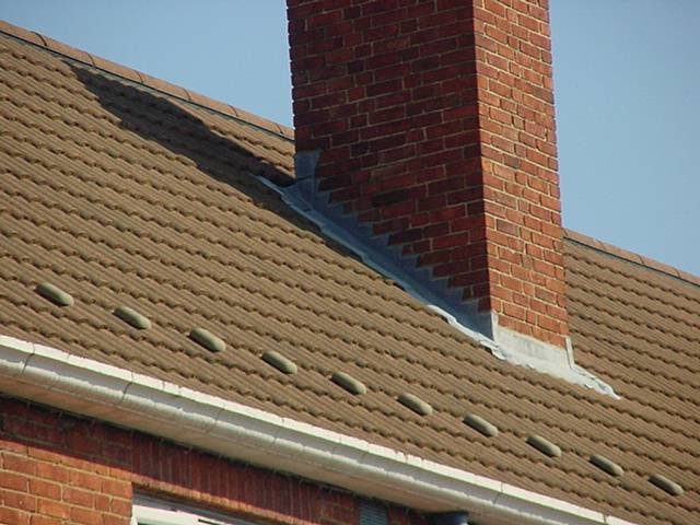 modern chimney and roof