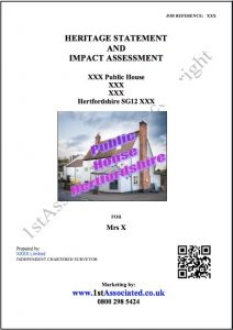 heritage statement example report